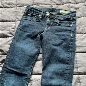 Rag & Bone Cropped High-Rise Skinny Jeans